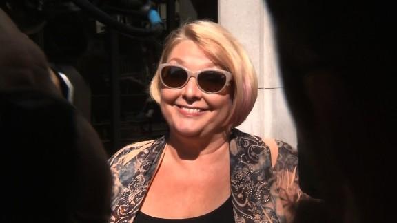 Samantha Geimer arrives at Los Angeles Superior Court on Friday morning.