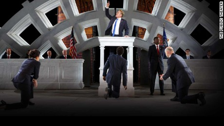 "An image from the production of ""Julius Caesar"" by the New York Public Theater."