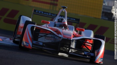 MARRAKECH, MOROCCO - NOVEMBER 12: In this handout image supplied by Formula E, Felix Rosenqvist (SWE), Mahindra Racing, Spark-Mahindra, Mahindra M3ELECTRO during the FIA Formula E Championship Marrakesh ePrix at the Circuit International Automobile Moulay El Hassan on November 12, 2016 in Marrakech, Morocco. (Photo by LAT Photographic/Formula E via Getty Images)
