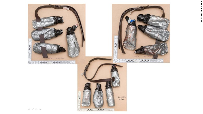 Police release photos of fake explosive belts