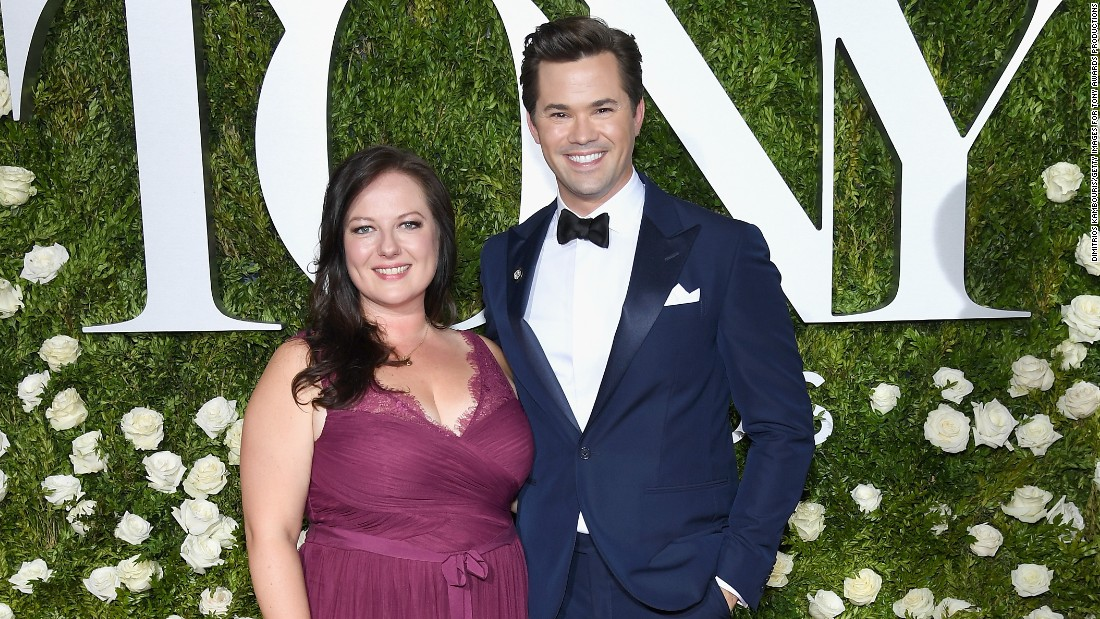 "Andrew Rannells (right, pictured with Dorota Kishlovsky), known for his role as Elijah on HBO's ""Girls,"" will show up to thank the 2017 top 10 CNN Heroes for their service."