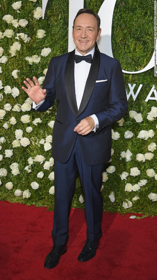 Host Kevin Spacey arrives for the 2017 Tony Awards at Radio City Music Hall on June 11 in New York City.