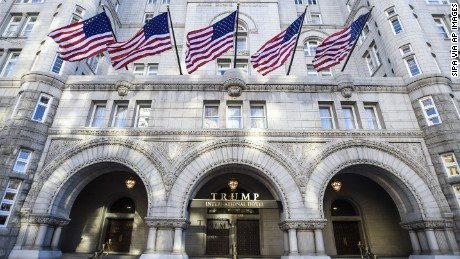 General view of the Trump International Hotel Washington, D.C. at the Old Post Office on November 11, 2016 in Washington, DC.