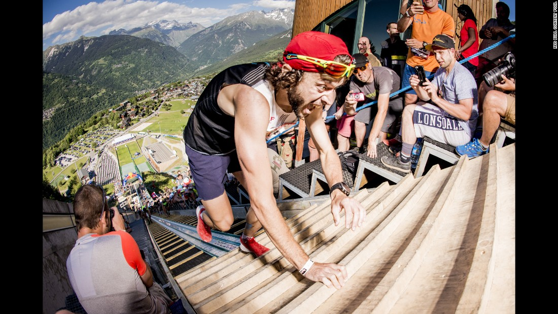 "Thibault Baronian runs to victory during the Red Bull 400 in Courchevel, France, on Saturday, June 1. <a href=""http://www.redbull.com/en/events/1331718858544/red-bull-400-international"" target=""_blank"">The Red Bull 400</a> is a 400-meter uphill race."