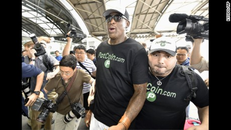 Dennis Rodman hopes to do 'something pretty positive' in North Korea