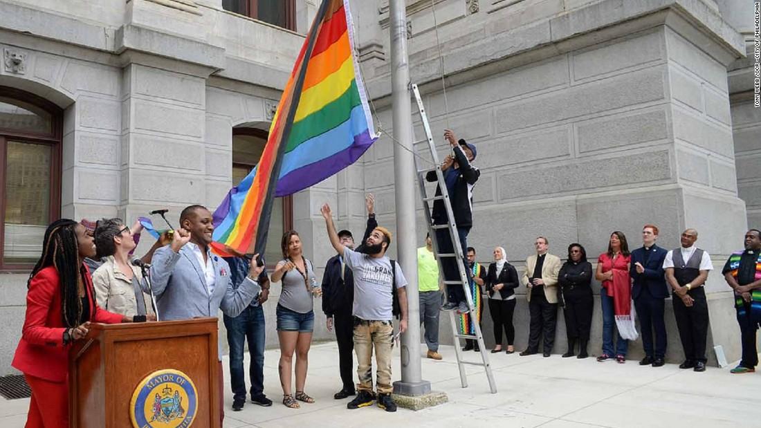 PIC OF GAY PRIDE FLAG