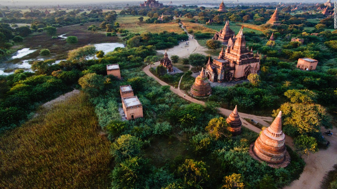 The Bagan Temple Marathon winds through more than 2,000 mesmerizing Buddhist temples in Myanmar, on the banks of the Irrawaddy River.