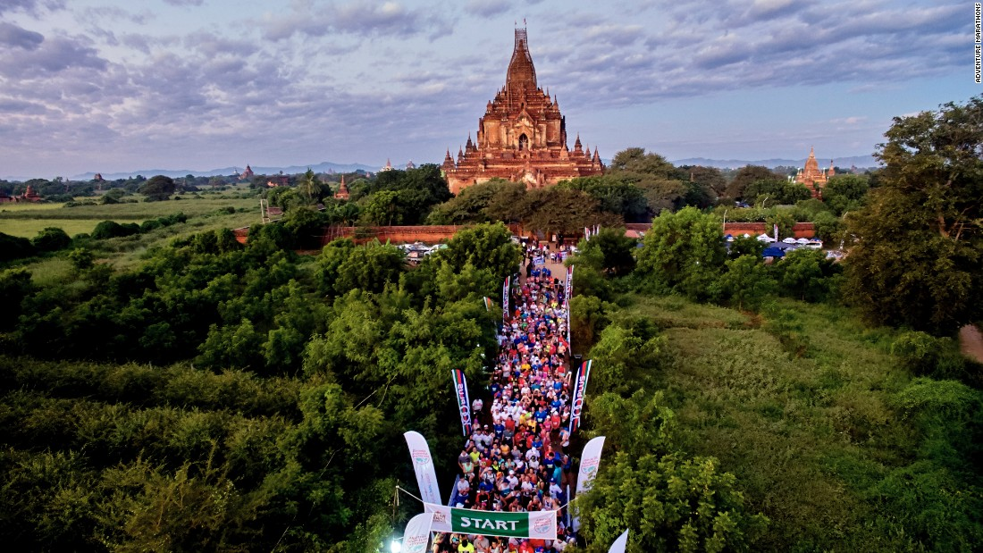 The race starts and finishes at the Htilominlo Temple, which dates back to 1211.