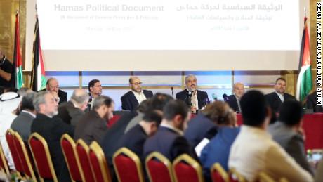 The Palestinian Islamist movement Hamas unveiled a new policy document in Qatar in May.