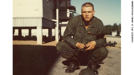 Then-Pfc. James McCloughan at Basic Combat Training, September 1968. (Photo courtesy of Spc. 5 James McCloughan)