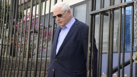 Panamanian former president and deputy of the Central American Parliament (Parlacen)  Ricardo Martinelli leaves after a parliament's plenary session in Guatemala city on January 29, 2015. Panama's Supreme Court has decided to open a corruption probe against Martinelli, a supermarket magnate, over allegations he inflated contracts worth $45 million to purchase dehydrated food for a government social program. Martinelli has denied the charges and says he is the target of political persecution by his successor, Juan Carlos Varela. AFP PHOTO/Johan Ordonez        (Photo credit should read JOHAN ORDONEZ/AFP/Getty Images)