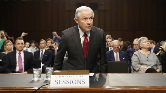 Attorney General Jeff Sessions arrives on Capitol Hill in Washington, Tuesday, June 13, 2017, to testify before the Senate Intelligence Committee hearingabout his role in the firing of James Comey, his Russian contacts during the campaign and his decision to recuse from an investigation into possible ties between Moscow and associates of President Donald Trump.