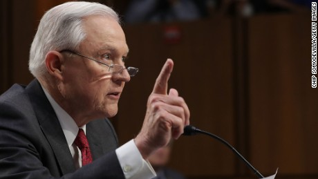WASHINGTON, DC - JUNE 13:  U.S. Attorney General Jeff Sessions testifies before the Senate Intelligence Committee about Russian interference in the 2016 presidential election in the Hart Senate Office Building on Capitol Hill June 13, 2017 in Washington, DC. Sessions recused himself from the Russia investigation because of his work for the Trump campaign and was later discovered to have had contact with the Russian ambassador last year despite testifying to the contrary during his confirmation hearing.  (Photo by Chip Somodevilla/Getty Images)