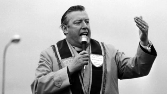 Rev. Ian Paisley, pictured here in 1972, founded the DUP.