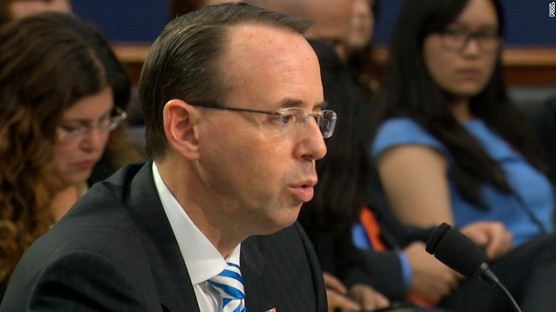 Rosenstein won't say who asked for Comey memo