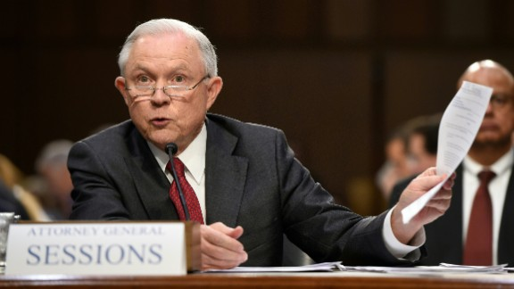 Attorney General Jeff Sessions testifies during a US Senate Select Committee on Intelligence hearing on Capitol Hill in Washington, DC, June 13, 2017. US Attorney General Jeff Sessions vehemently denied Tuesday that he colluded with an alleged Russian bid to tilt the 2016 presidential election in Donald Trump's favor.