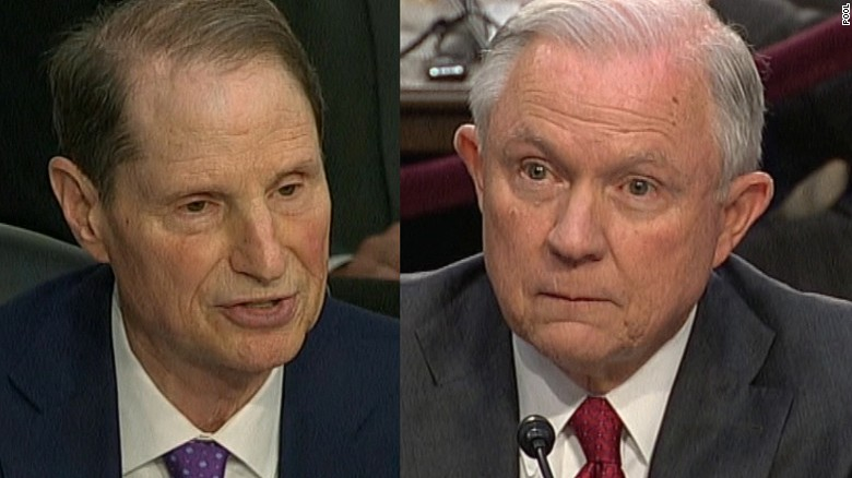 Sessions, senator spar over Russia claims