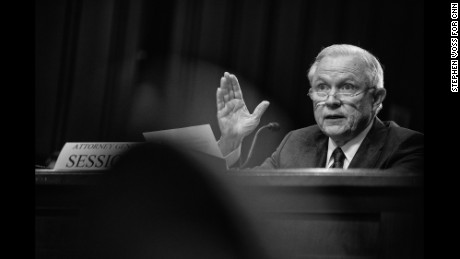 Attorney General Jeff Sessions testifies before the Senate Intelligence Committee at the Hart Senate Office Building in Washington, DC on June 13, 2017.