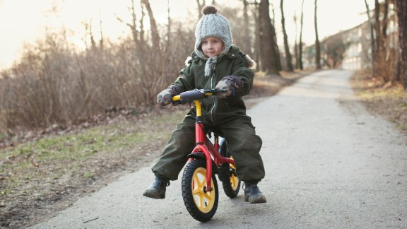 Sweden: A child learns to ride a bike in Sweden, where nobody is forcibly displaced by conflict.