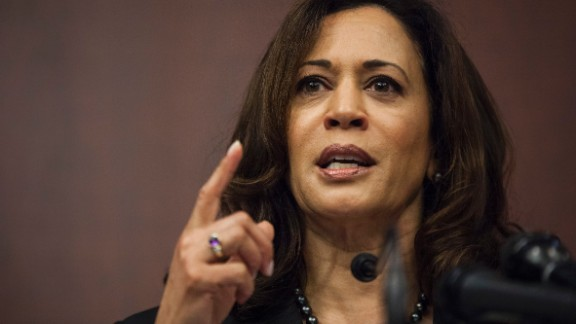 Sen. Kamala Harris (D-CA) speaks during a news conference on Capitol Hill on March 28, 2017 in Washington, D.C.