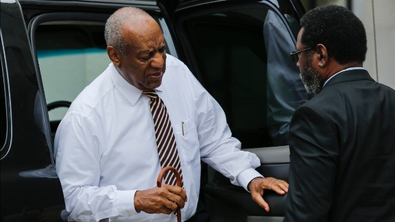 """Actor Bill Cosby arrives at the Montgomery County Courthouse on June 14, 2017 in Norristown, Pennsylvania. The US jury presiding over the Bill Cosby trial will deliberate for a third day after failing to reach a verdict on whether the disgraced cultural icon drugged and sexually assaulted a woman 13 years ago. The 79-year-old legendary entertainer, once loved by millions as """"America's Dad,"""" risks being sentenced to spend the rest of his life in prison if convicted on three counts of aggravated indecent assault."""