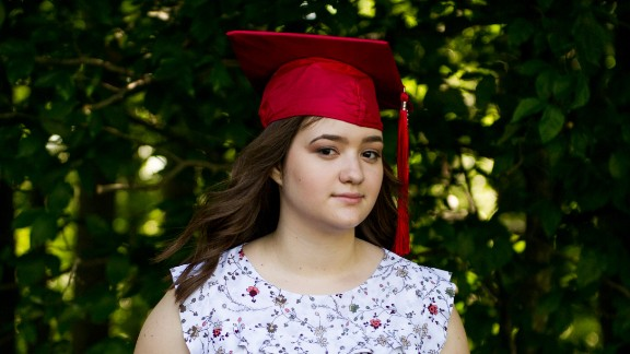 Emma Pino is photographed outside the Canyon Rim Visitor Center in Lansing, WV on June 9, 2017. Emma graduated as Valedictorian from Oak Hill High School this year and plans to attend West Virginia University to study psychology in the Fall.