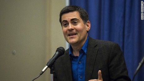 Russell Moore, president of the Ethics and Religious Liberty Commission, speaks at a news conference on Tuesday.