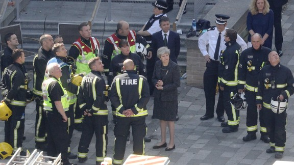 Theresa May didn't meet Grenfell survivors when she visited the site of the fire.