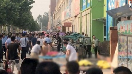At least seven people were killed and 66 were injured, including children, in a blast Thursday near a kindergarten in eastern China, according to Chinese state media. Two people died at the scene in Fengxian and five died at the hospital, Chinese Central Television reported. Nine are in serious condition, according to CCTV. It's not clear if children were among the dead.