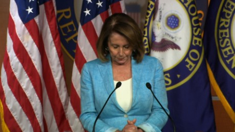Pelosi chokes up over congressional shooting