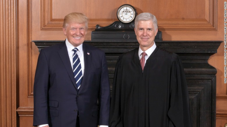 See the times Trump has praised Gorsuch