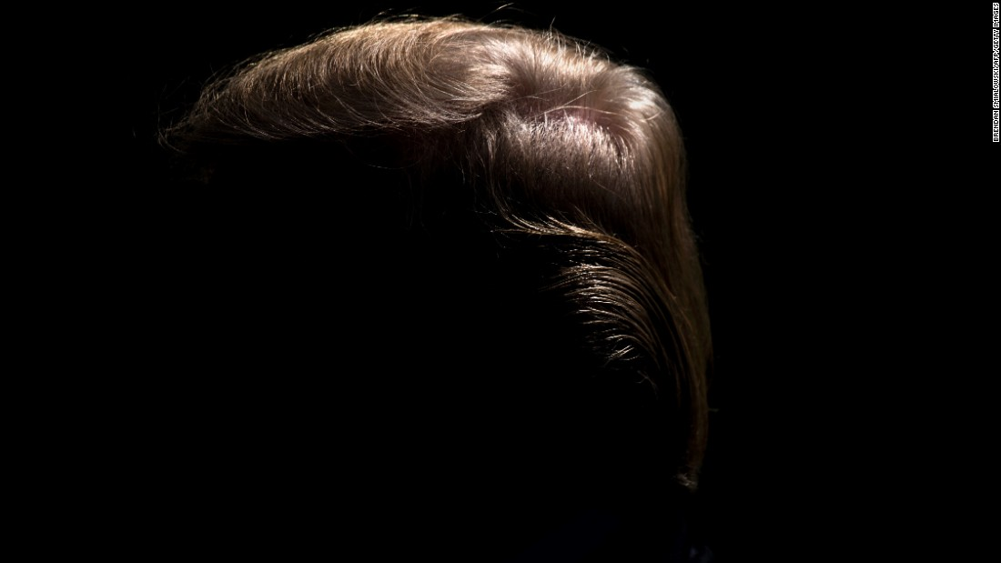"The hair of US President Donald Trump is seen during a White House news conference on Friday, June 9. <a href=""http://www.cnn.com/2017/06/08/world/gallery/week-in-photos-0609/index.html"" target=""_blank"">See last week in 29 photos</a>"