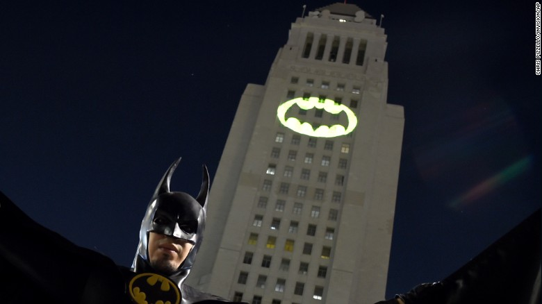 the bat signal was displayed in tribute to wests portrayal of - Picture Of A Bat