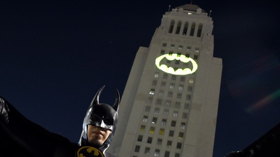 """The Bat-signal was displayed in tribute to West's portrayal of the """"Bright Knight."""""""