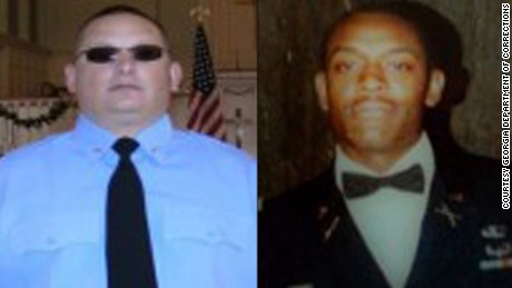 Sgts. Christopher Monica (left) and Curtis Billue