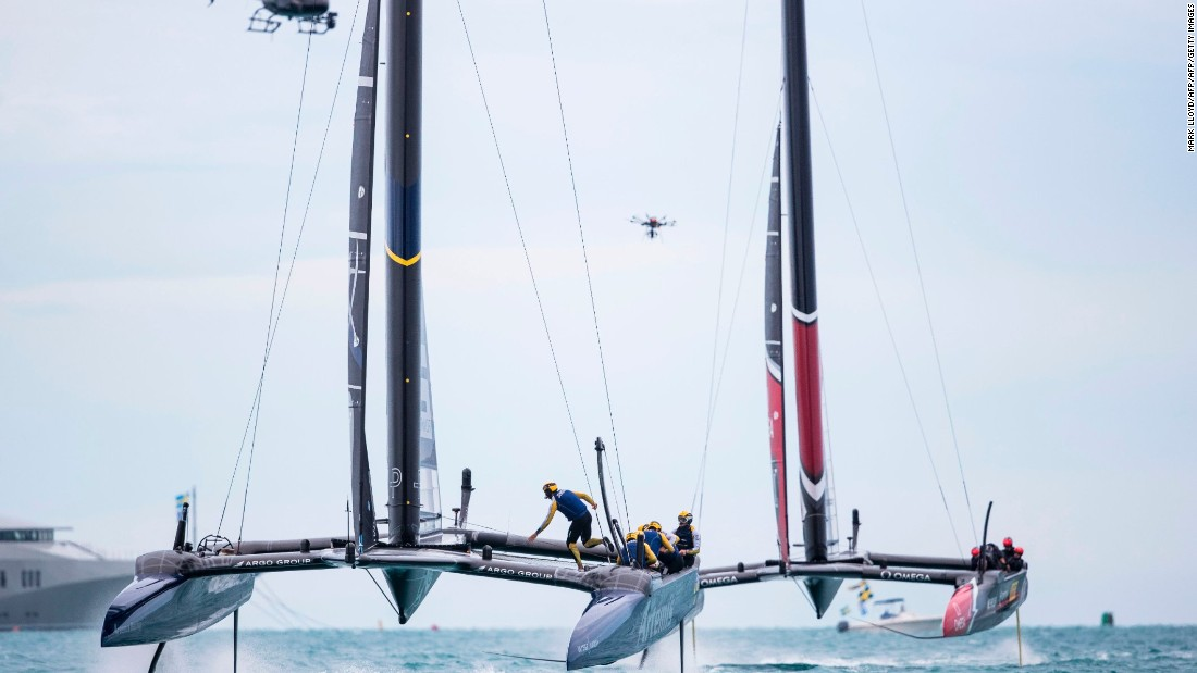 Using helicopters and drones, the America's Cup been at the forefront of technological advances in TV.