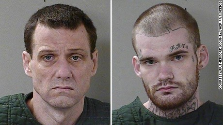 Captured inmates Donnie Rowe (left) and Ricky Dubose.