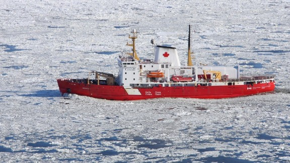 The CCGS Amundsen, a Canadian research icebreaker