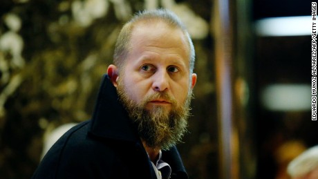US President-elect Donald Trump's Digital Director Brad Parscale, arrives at the Trump Tower for meetings with US President-elect Donald Trump, in New York on November 17, 2016.