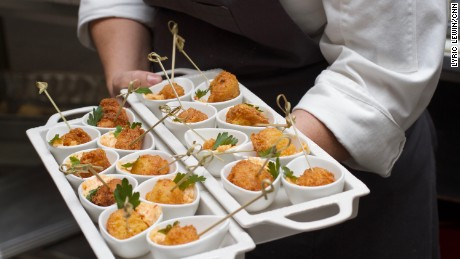 Chef Annie Pettry prepares buttermilk hushpuppies with 12 Pepper Jam and Pimento Cheese.