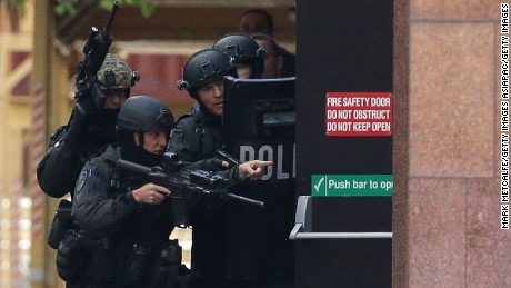 The Australian government said illegal firearms were used in the 2014 Sydney siege.