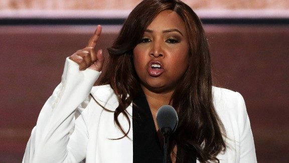 Lynne Patton, vice president of the Eric Trump Foundation, delivers a speech on the third day of the Republican National Convention on July 20, 2016 at the Quicken Loans Arena in Cleveland, Ohio. (Photo by Alex Wong/Getty Images)