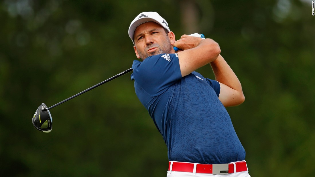 Masters champion Sergio Garcia shot 71 to edge to three under and a tie for 18th, the highest-placed player with a major title to his name.