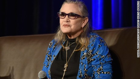 "Carrie Fisher photographed in 2016. The actress was honored posthumously with a ""Legend"" award from the Walt Disney Company."