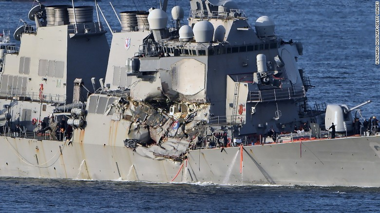 Navy identifies 7 sailors killed in collision