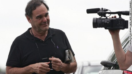 US filmaker Oliver Stone walks in Apiay Military Base in Villavicencio, Meta department, Colombia. Stone will go with the foreign envoys to pick up three hostages, including a toddler, kidnapped by the Revolutionary Armed Foreces of Colombia (FARC) leftist guerrilla. He is also planning to make a movie of the Latin American situation. AFP PHOTO/Mauricio DUE-AS (Photo credit should read MAURICIO DUENAS/AFP/Getty Images)