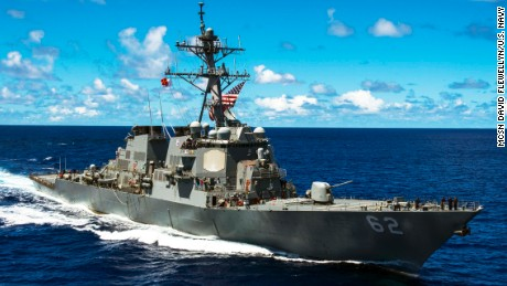 The guided-missile destroyer USS Fitzgerald collided with the ACX Crystal merchant vessel Saturday morning off Japan.