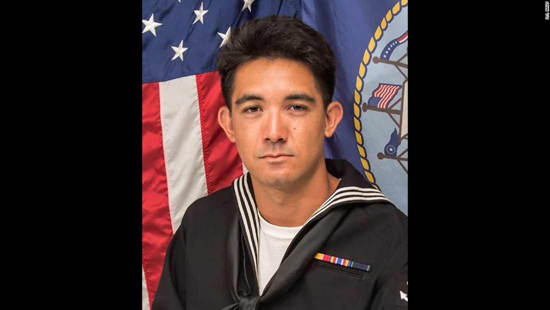 Yeoman 3rd Class Shingo Alexander Douglass, 25, from San Diego, California.