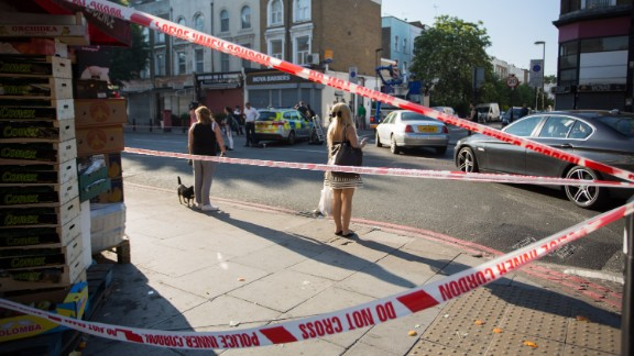 Police cordoned off the scene on Monday.