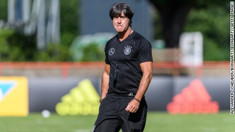 KELSTERBACH, GERMANY - JUNE 13: Head coach Joachim Loew (Germany) is seen during a training session on June 13, 2017 in Kelsterbach, Germany. (Photo by Alexander Scheuber/Bongarts/Getty Images)